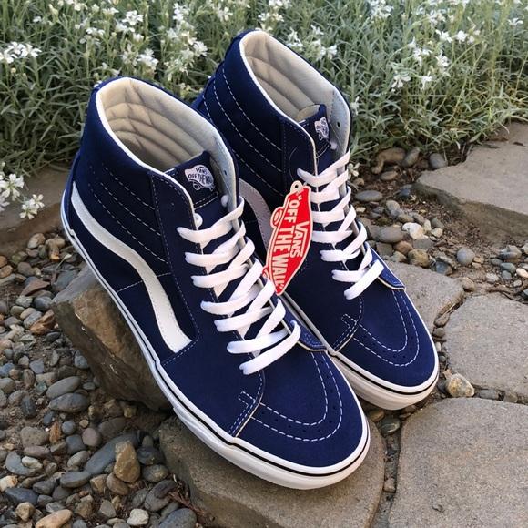 Vans Sk8hi Estate Blue Suede Shoes